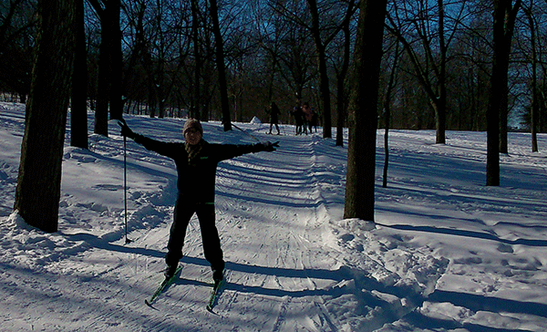 Cross-country skiing on Mount Royal